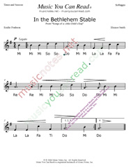 "Click to Enlarge: ""In the Bethlehem Stable"" Solfeggio Format"