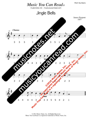"Click to Enlarge: ""Jingle Bells"" Pitch Number Format"