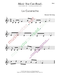 La cucaracha lyrics spanish