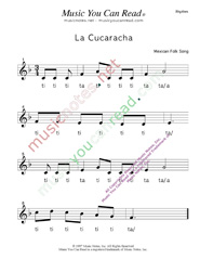 "Click to Enlarge: ""La Cucaracha"" Rhythm Format"