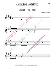 """Laugh, Ha, Ha!"" Music Format"