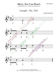 "Click to Enlarge: ""Laugh, Ha, Ha!"" Pitch Number Format"