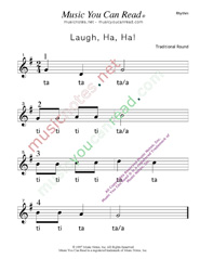 "Click to Enlarge: ""Laugh, Ha, Ha!"" Rhythm Format"