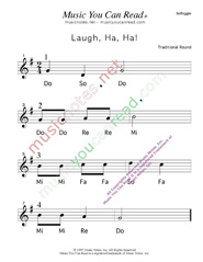 "Click to Enlarge: ""Laugh, Ha, Ha!"" Solfeggio Format"