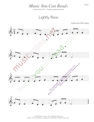 """Lightly Row"" Music Format"