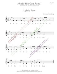 "Click to Enlarge: ""Lightly Row"" Rhythm Format"