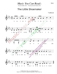 "Click to enlarge: ""The Little Shoemaker"" Beats Format"
