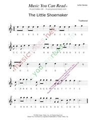 "Click to Enlarge: ""The Little Shoemaker"" Letter Names Format"