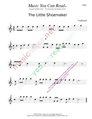 """The Little Shoemaker"" Music Format"