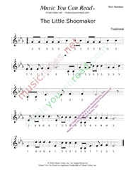 "Click to Enlarge: ""The Little Shoemaker"" Pitch Number Format"