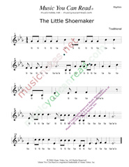 "Click to Enlarge: ""The Little Shoemaker"" Rhythm Format"