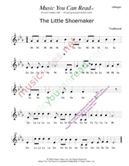 "Click to Enlarge: ""The Little Shoemaker"" Solfeggio Format"