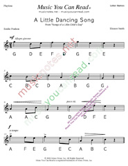 "Click to Enlarge: ""A Little Dancing Song"" Letter Names Format"