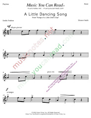 """A Little Dancing Song"" Music Format"