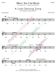 "Click to Enlarge: ""A Little Dancing Song"" Rhythm Format"