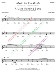 "Click to Enlarge: ""A Little Dancing Song"" Solfeggio Format"