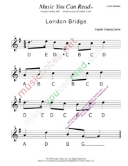 "Click to Enlarge: ""London Bridge"" Letter Names Format"