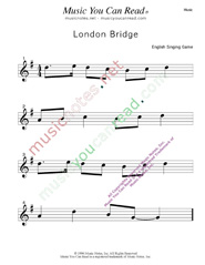 """London Bridge"" Music Format"