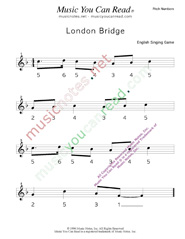 "Click to Enlarge: ""London Bridge"" Pitch Number Format"