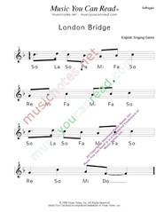 "Click to Enlarge: ""London Bridge"" Solfeggio Format"