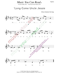"Click to Enlarge: ""'Long Come Uncle Jessie,"" Rhythm Format"