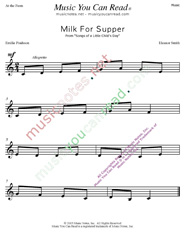 """Milk for Supper"" Music Format"