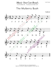 """The Mulberry Bush"" Letter Names Format"