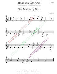 """The Mulberry Bush"" Music Format"