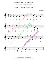 """The Mulberry Bush"" Pitch Numbers Format"