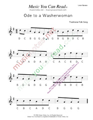 "Click to Enlarge: ""Ode to a Washerwoman"" Letter Names Format"