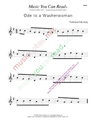 """Ode to a Washerwoman"" Music Format"
