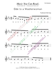 "Click to Enlarge: ""Ode to a Washerwoman"" Pitch Number Format"