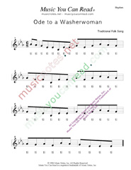 "Click to Enlarge: ""Ode to a Washerwoman"" Rhythm Format"