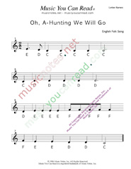 "Click to Enlarge: ""Oh, A-Hunting We Will Go"" Letter Names Format"