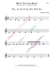 """Oh, A-Hunting We Will Go"" Music Format"