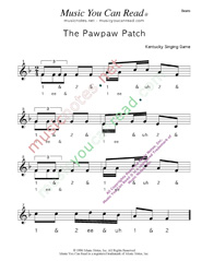 "Click to enlarge: ""The Pawpaw Patch"" Beats Format"