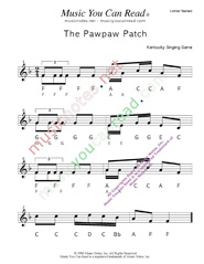 "Click to Enlarge: ""The Pawpaw Patch"" Letter Names Format"