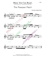 """The Pawpaw Patch"" Music Format"