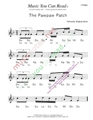 "Click to Enlarge: ""The Pawpaw Patch"" Solfeggio Format"