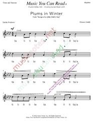 "Click to Enlarge: ""Plums in Winter"" Rhythm Format"