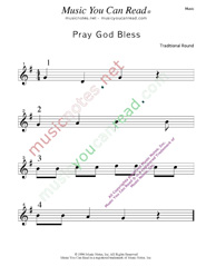 """Pray God Bless"" Music Format"