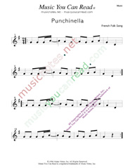 """Punchinella"" Music Format"