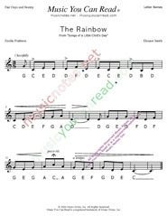 "Click to Enlarge: ""The Rainbow"" Letter Names Format"