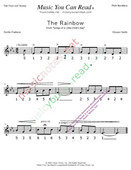 "Click to Enlarge: ""The Rainbow"" Pitch Number Format"