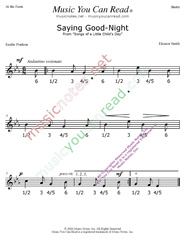 "Click to enlarge: ""Saying Good Night"" Beats Format"