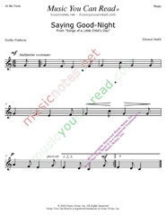 """Saying Good Night"" Music Format"