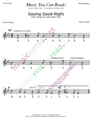 "Click to Enlarge: ""Saying Good Night"" Pitch Number Format"