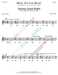 "Click to Enlarge: ""Saying Good Night"" Rhythm Format"