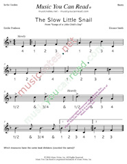 "Click to enlarge: ""The Slow Little Snail"" Beats Format"
