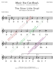 "Click to Enlarge: ""The Slow Little Snail"" Letter Names Format"